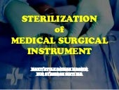 Sterilization of medical instruments (radiation)