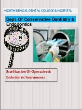 Sterilization of operative & endodontic instruments