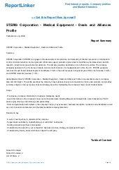 STERIS Corporation - SWOT Analysis