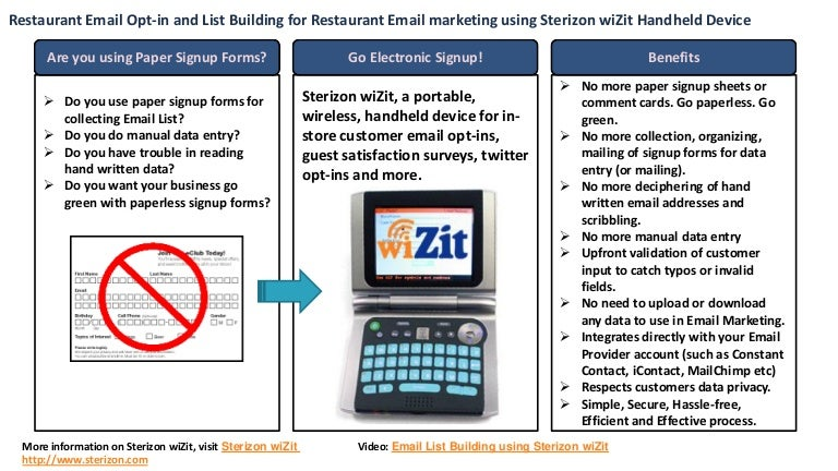 restaurant email sign up device restaurant email collecting device f
