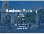 Stern NYU Innovation : Business Model Canvas Introduction
