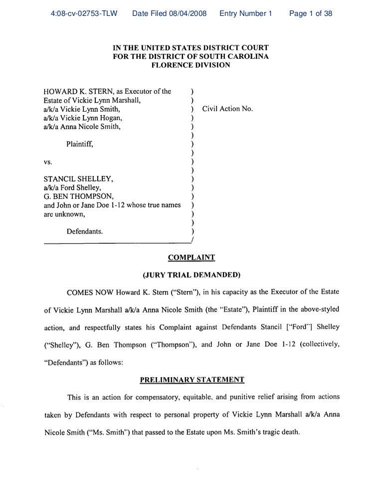 sc - original complaint