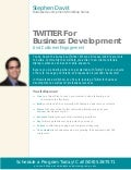 Steve Davis' Twitter for Business Development Workshop