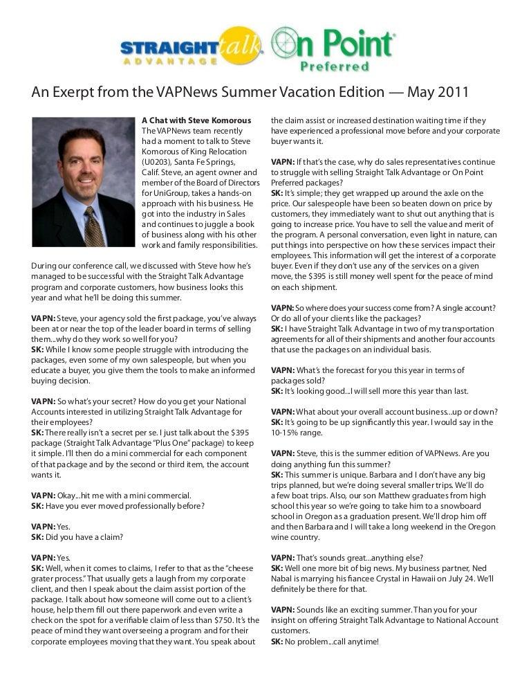 Steve Komorous Interview