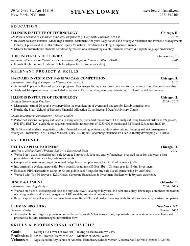 Research Analyst Resume Samples VisualCV Resume Samples Database Design  Synthesis Financial Analyst Resume Examples Entry Level  Equity Analyst Resume