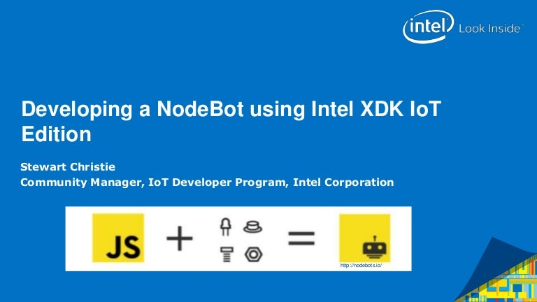 Developing a NodeBot using Intel XDK IoT Edition