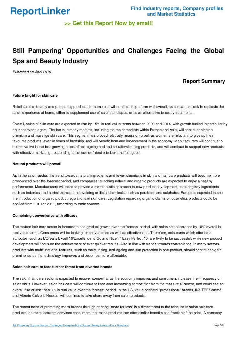 Still Pampering\' Opportunities and Challenges Facing the Global Spa a…