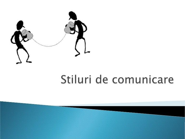 stiluri si tehnici de comunicare)