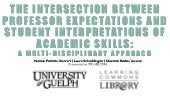 The Intersection between Professor Expectations and Student Interpretations of Academic Skills: A Multi-Disciplinary Approach