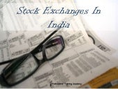 Stock exchanges of India