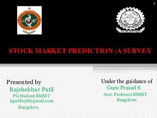 Stock market prediction technique: