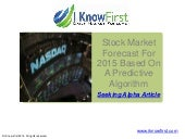 Stock Market Forecast For 2015 Based On A Predictive Algorithm