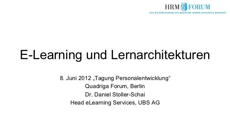 E-Learning und Lernarchitekturen