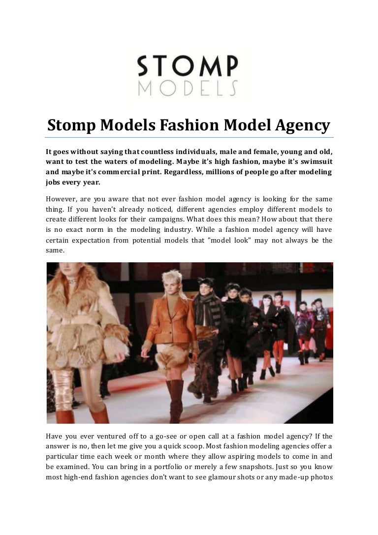 Stomp Models Fashion Model Agency
