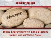 Stone engraving with sand blasters