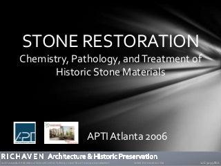 Stone Restoration Workshop