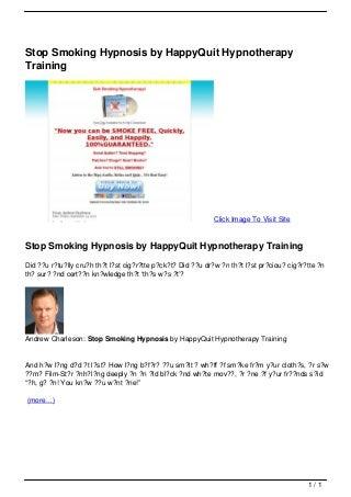 hypnotherapy jobs scotland