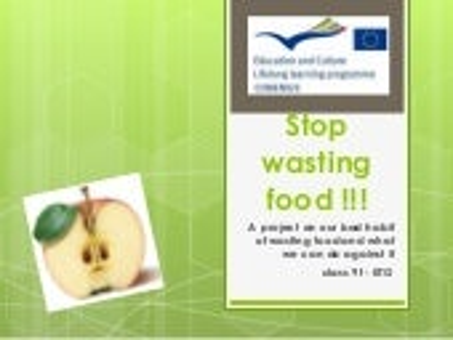 Stop wasting food !!!