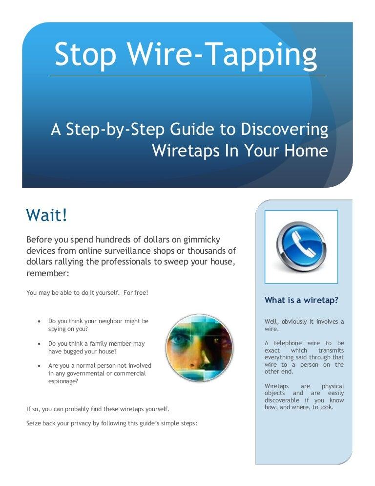 Stop Wire Tapping - Spyassociates.com