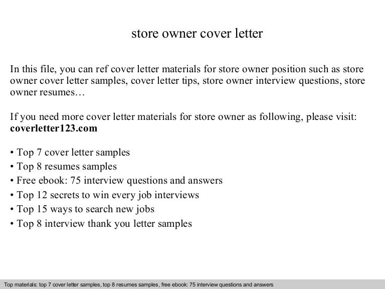 store owner resumes