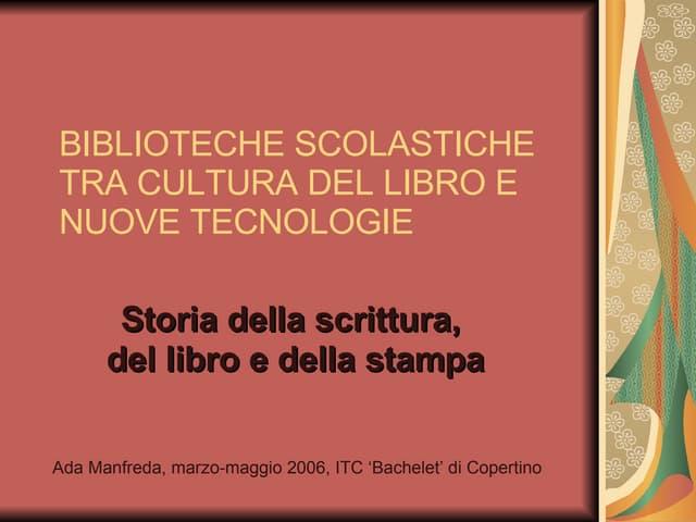 Storia del libro e della scrittura