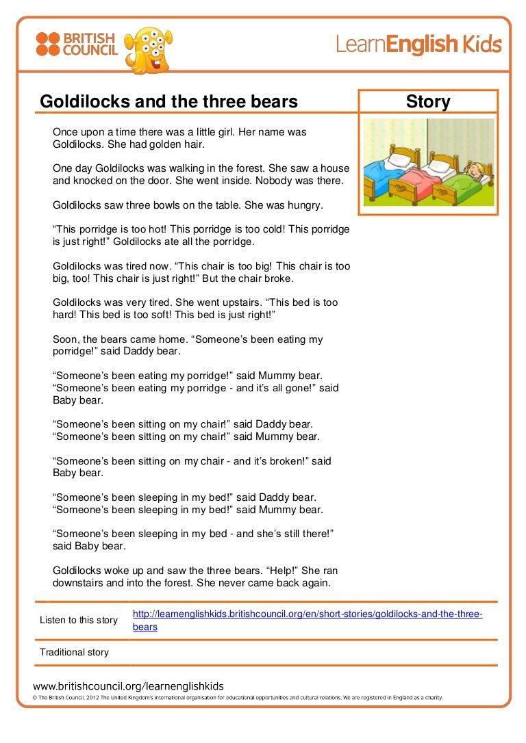 Uncategorized Goldilocks And The Three Bears Story With Pictures stories goldilocks and the three bears