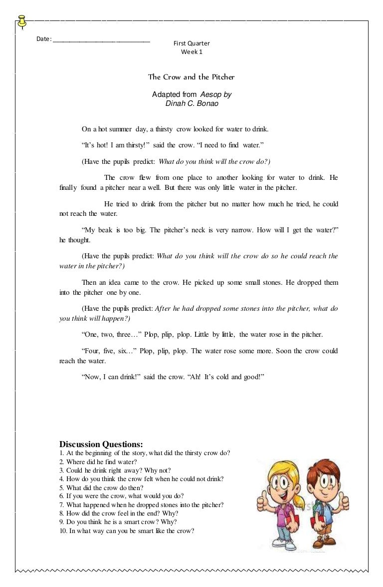 Grade Three K to 12 - Compilation of English Stories (First Quarter)
