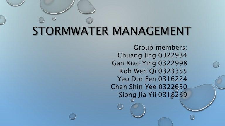 Stormwater management presentation slides