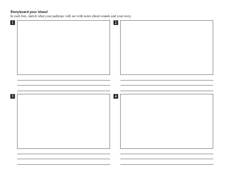 Storyboard Template >Text
