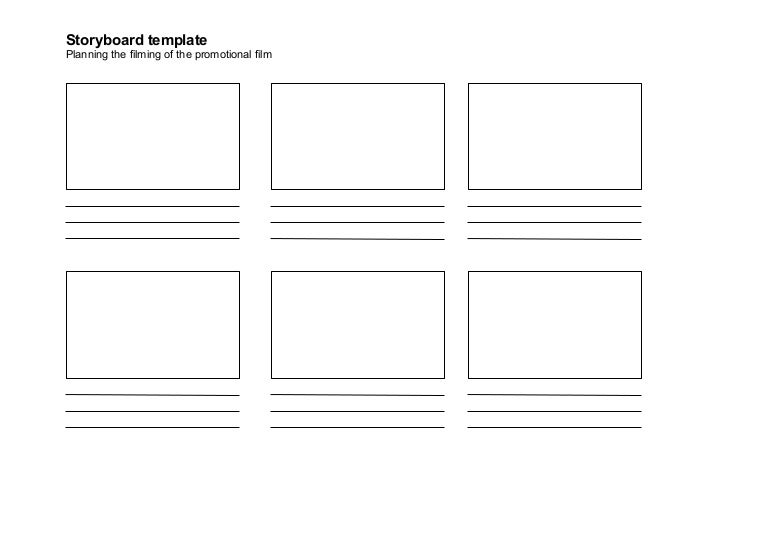 Storyboard template for Film storyboard template word