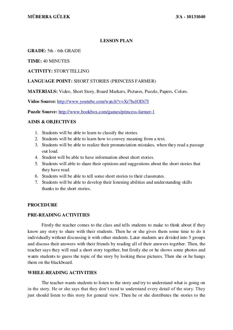 Worksheet Short Story 5th Grade storytelling lesson plan for young learners