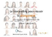 Leveraging storytelling to implement change in the enterprise. Le storytelling pour conduire le changement dans l'entreprise.