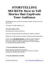 Storytelling secrets for public speaking