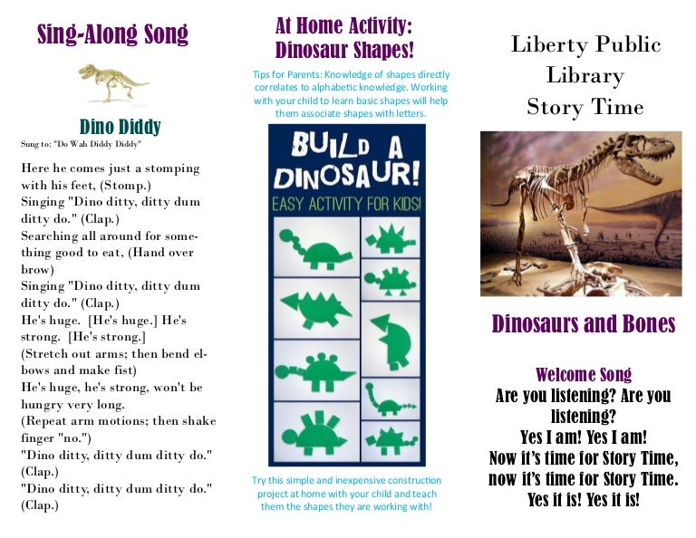 Story Time: Dinosaurs and Bones