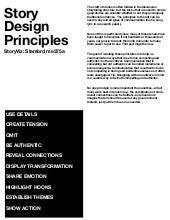 Storyviz story design principles