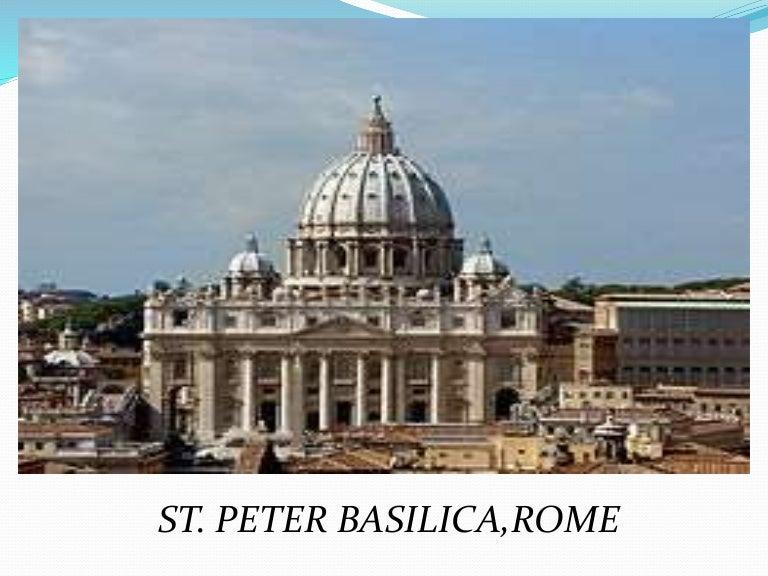Roman Architecture Dome st peter basilica