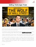 Selling Technique from 'The Wolf of Wall Street'