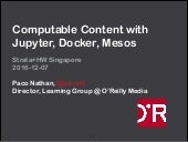 Computable Content with Jupyter Docker Mesos