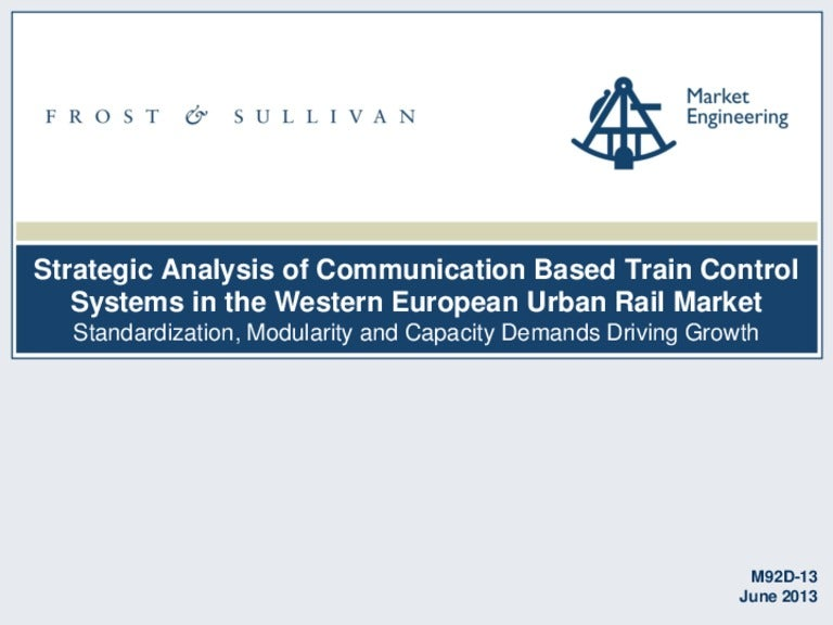Strategic analysis of communications based train control systems in t…