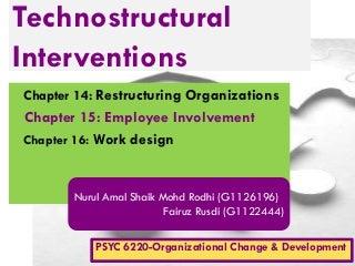 Strategic Change Interventions