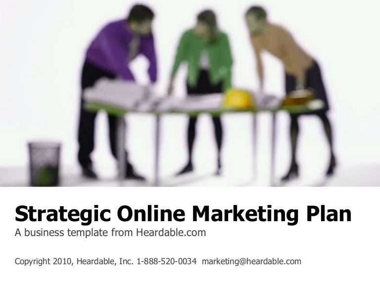 Strategic online marketing plan template accmission Gallery