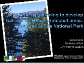 Strategic plannig to develop sustainable tourism in natural protected areas: the case of sila national park sonia ferrari