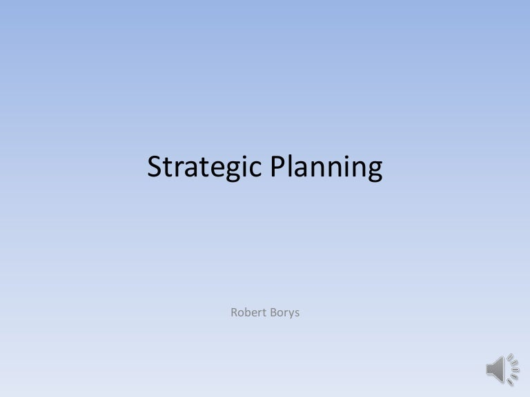 Strategic Planning Powerpoint