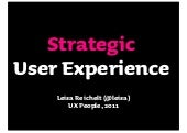 Strategic UX - UX People