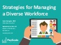 Strategies for Managing a Diverse Workforce