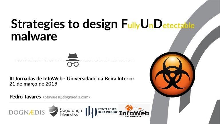 Strategies to design FUD malware