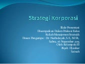 STRATEGI KORPORASI_MANSAJEMEN STRATEGIK