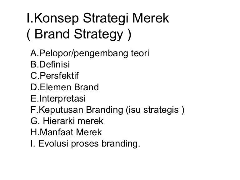 mendukung contoh strategi merek