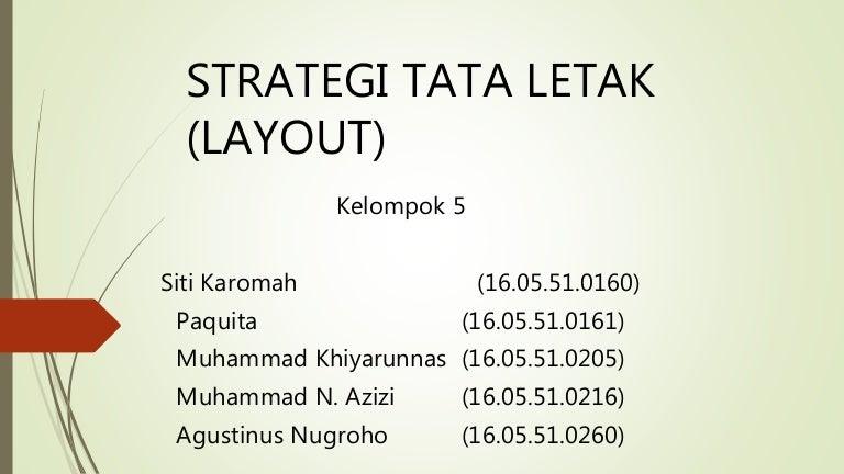 Strategi Tata Letak Layout
