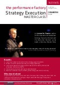 Strategy execution master class 2016